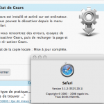 WordPress 2.6 - Safari - Gears - Success