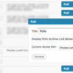 La version multi widget de l'extension WP-Polls