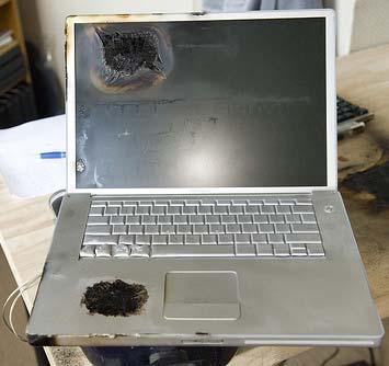 Un Powerbook peu aussi explosé !